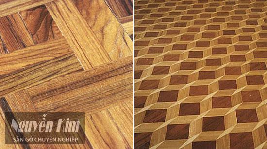 mô hình packe của sàn gỗ tự nhiên