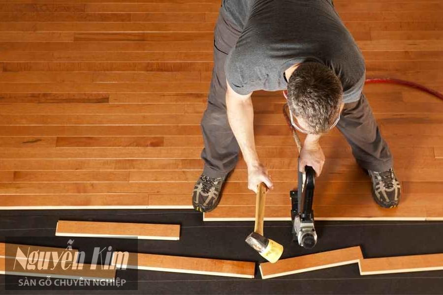 cách lắp đặt sàn gỗ tự nhiên