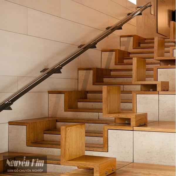 các mẫu cầu thang gỗ đẹp