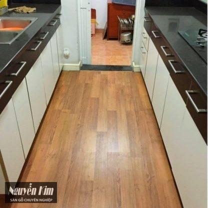 sàn gỗ janmi o24 phòng bếp