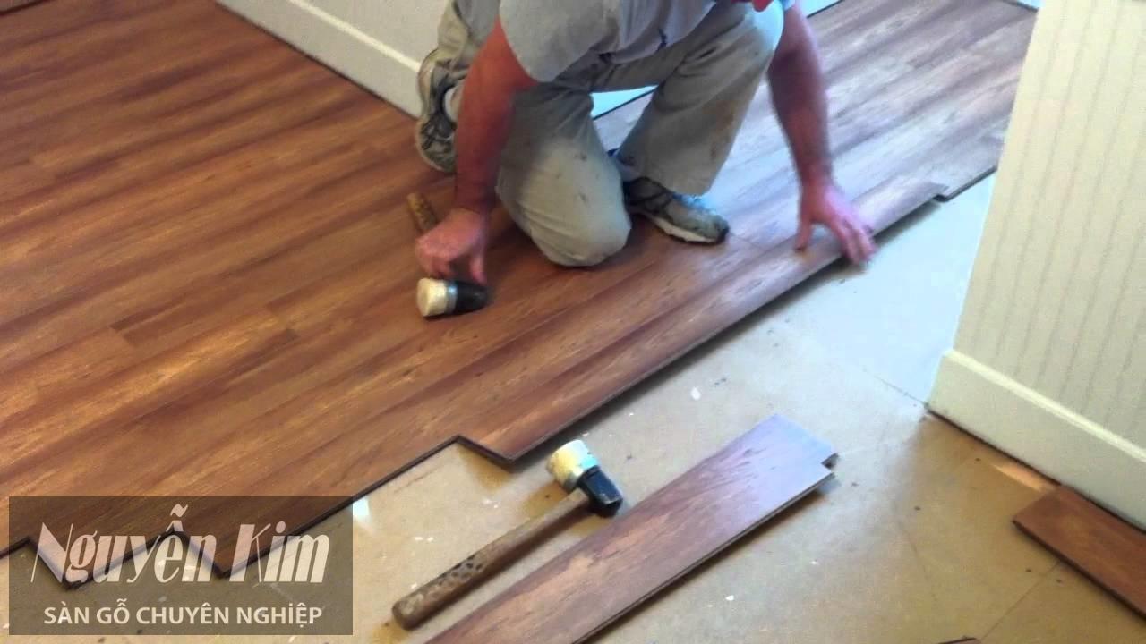 lắp đặt sàn gỗ tại các cửa
