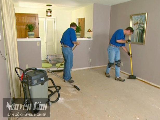 Lưu ý vệ sinh trước khi lắp đặt sàn gỗ