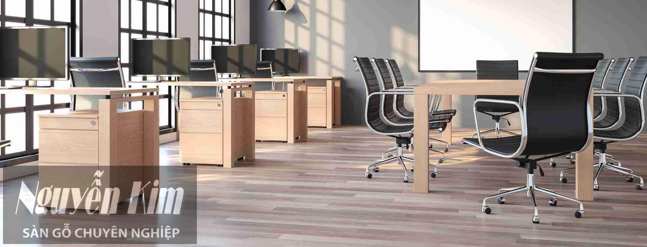 sàn gỗ công nghiệp cho văn phòng