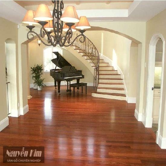 sàn gỗ tự nhiên giáng hương ghép