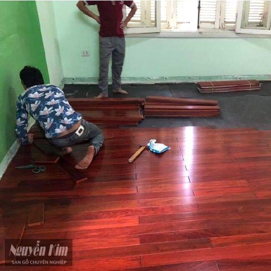 thi công ván sàn gỗ hương nam phi