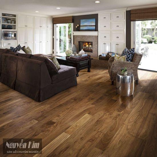 sàn gỗ óc chó tự nhiên đẹp