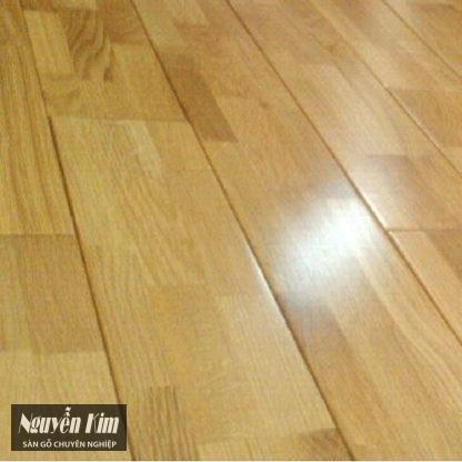 sàn gỗ sồi ghép thanh fjl cận cảnh