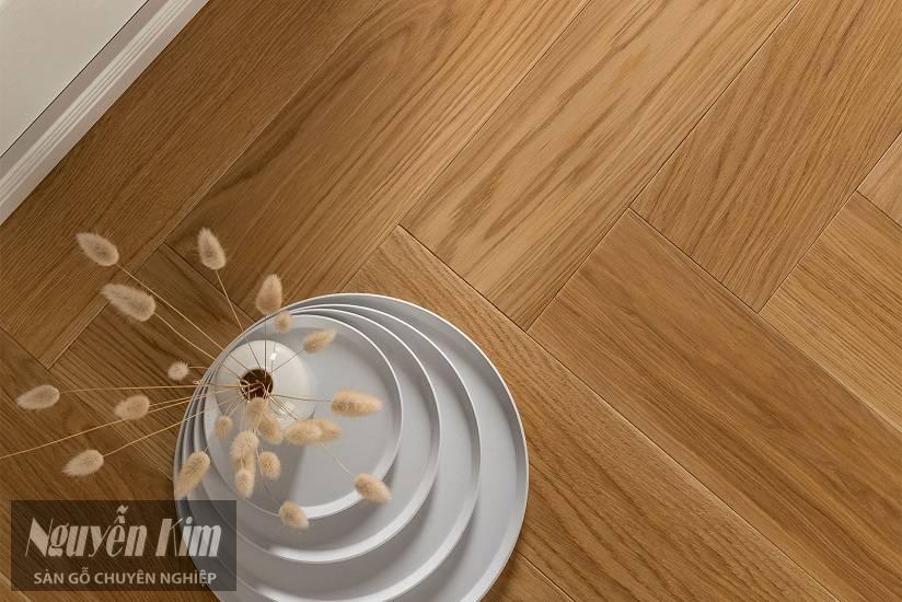 sàn gỗ sồi cao cấp lát xương cá