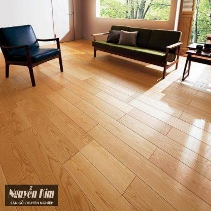 sàn gỗ sồi ghép mặt trong phòng khách