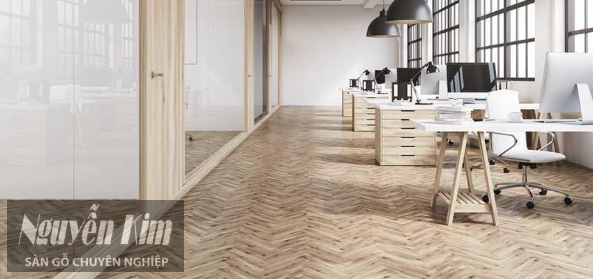 sàn gỗ sử dụng cho văn phòng