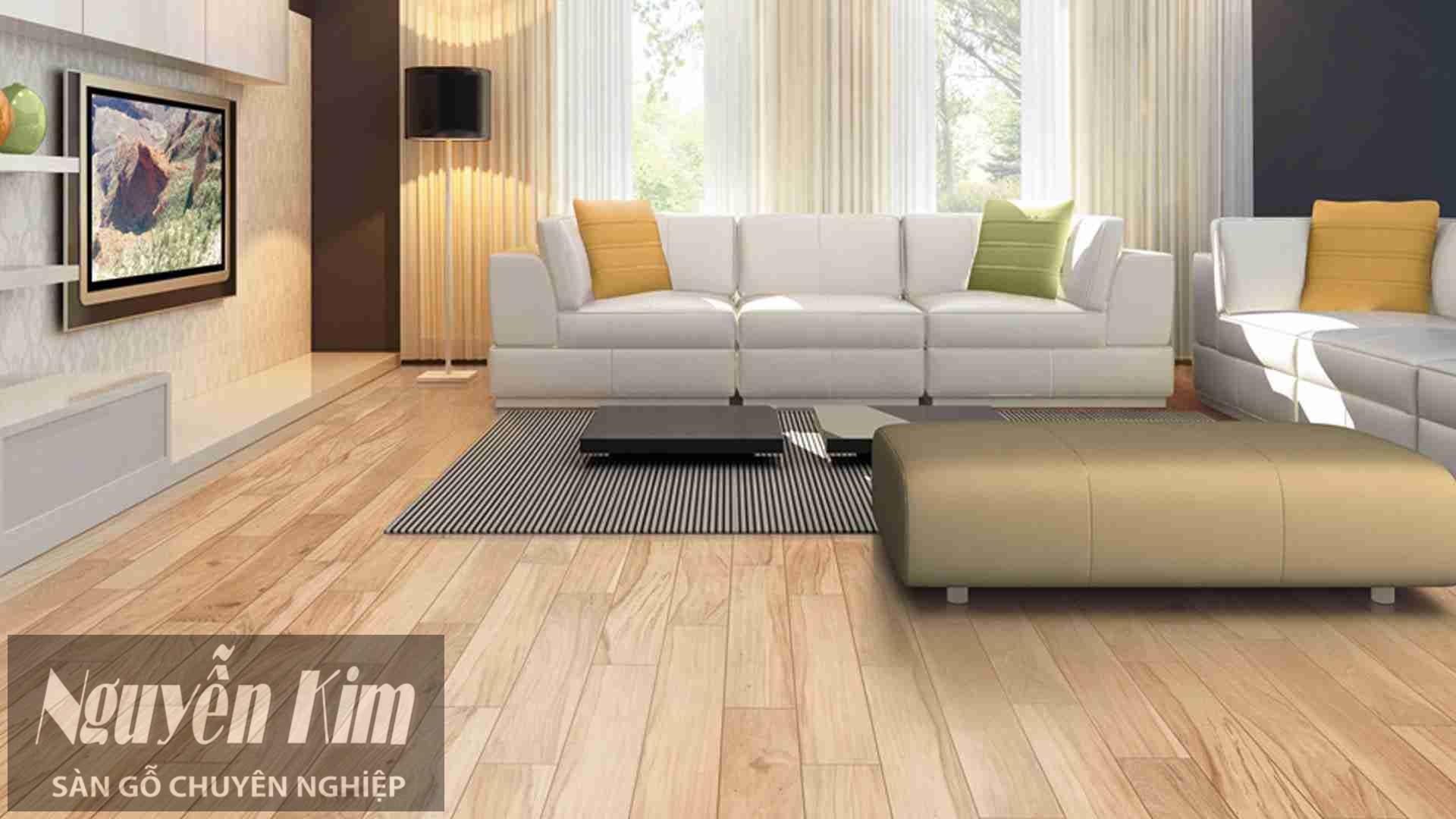 sàn gỗ tự nhiên cho phòng khách