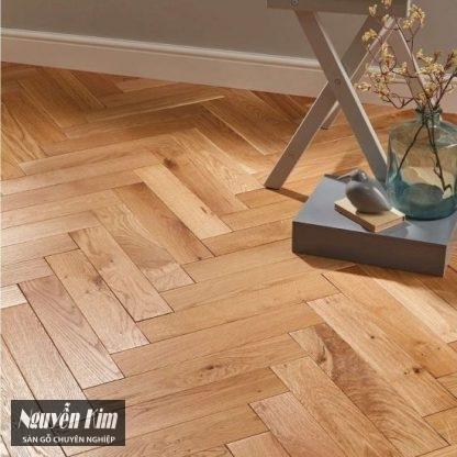 sàn gỗ sồi xương cá đẹp tự nhiên