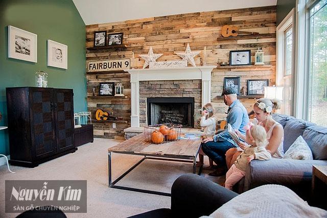 gỗ ốp tường mang phong cách châu âu