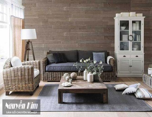 mẫu gỗ ốp tường tự nhiên
