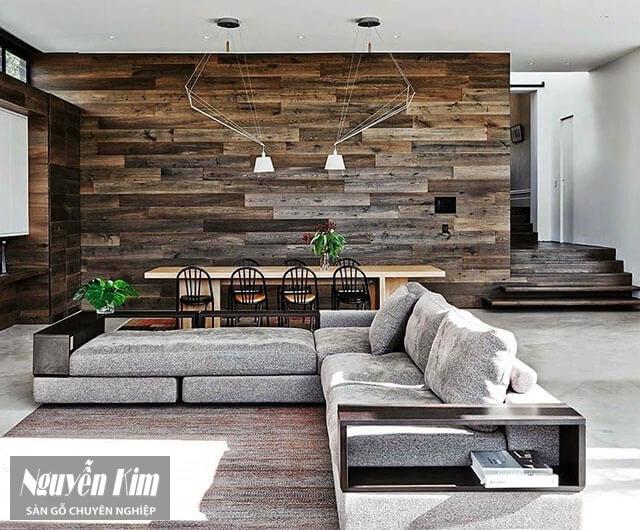 gỗ ốp tường tự nhiên ấn tượng