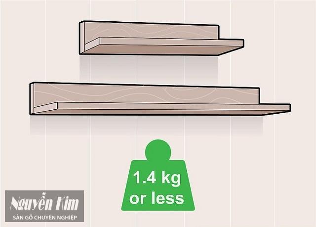 Nên chọn kệ làm từ gỗ có trọng lượng nhẹ