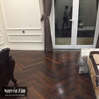 sàn gỗ chiu liu công trình thực tế
