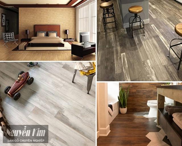 thảm nhựa trải sàn vân gỗ có tính thẩm mỹ cao