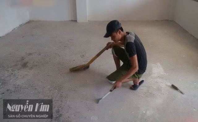 dọn dẹp bề mặt trước khi thi công