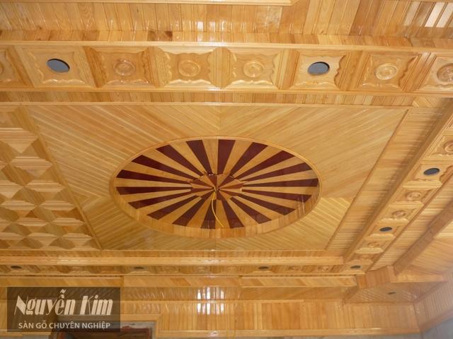 trần nhà gỗ pơ mu