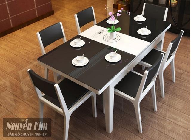 các mẫu bàn ăn hiện đại làm từ gỗ