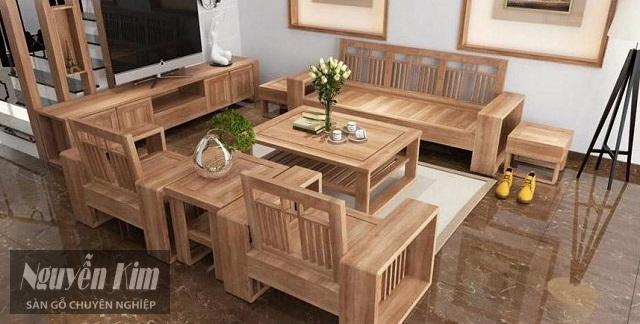các mẫu bàn ghế gỗ trang trí phòng khách