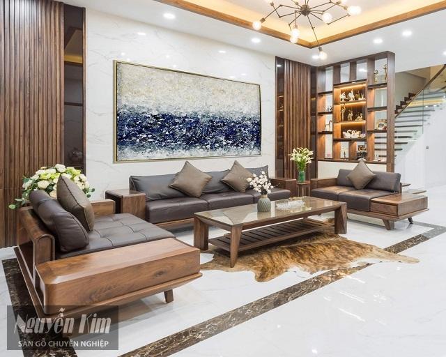 gỗ trang trí nội thất phòng khách