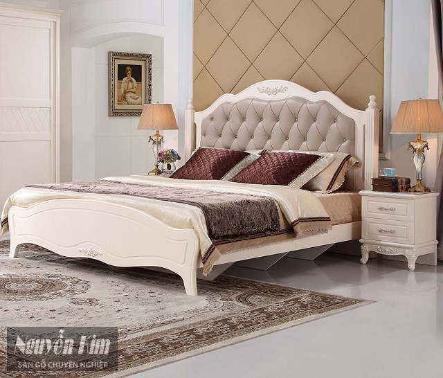 mẫu giường ngủ tân cổ điển đẹp mắt