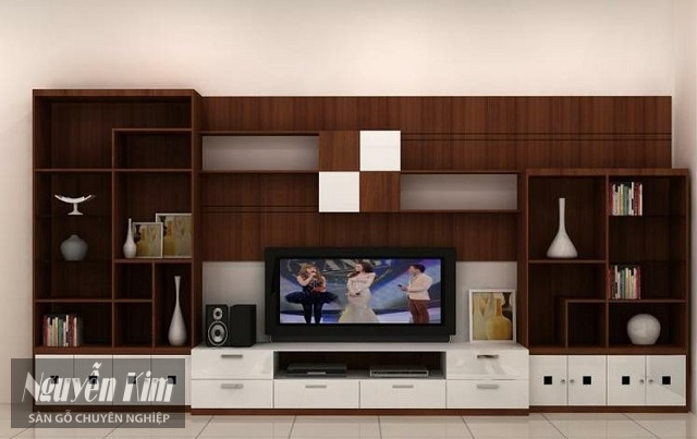 mẫu kệ tivi làm từ gỗ