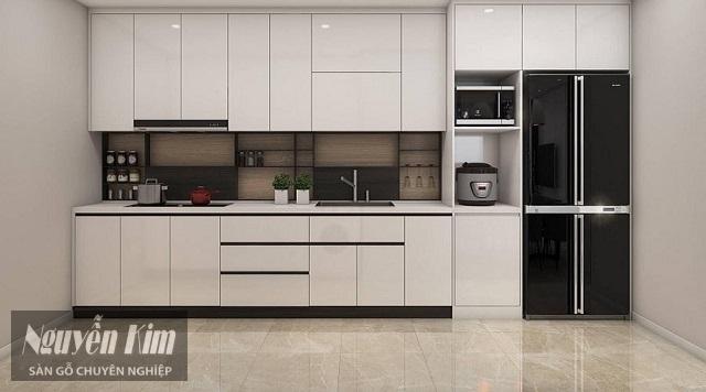 phòng bếp ấn tượng hơn với tủ bếp làm từ gỗ