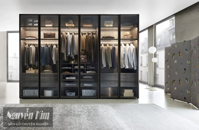 tủ quần áo làm từ gỗ
