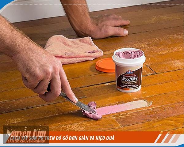 cách tẩy sơn PU trên gỗ