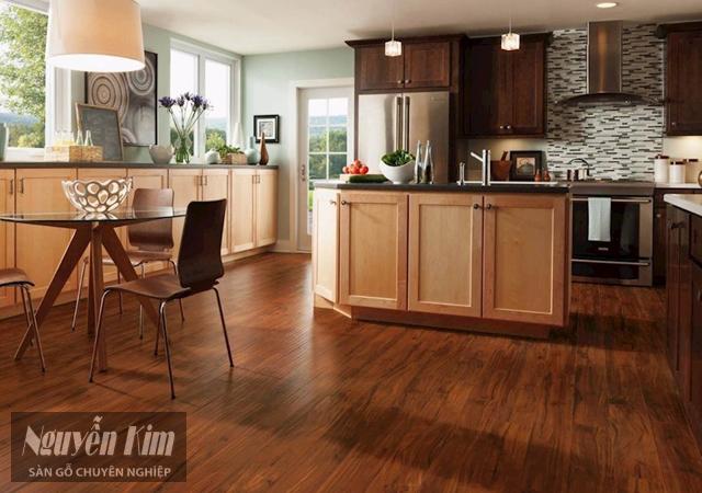 lát sàn gỗ cho phòng bếp