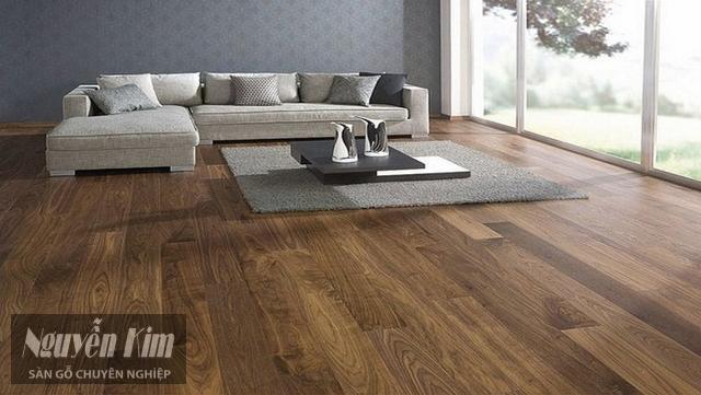 lát sàn gỗ cho phòng khách