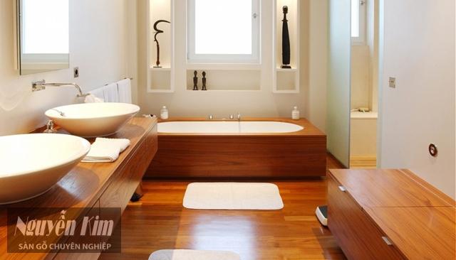 lát sàn gỗ cho phòng tắm