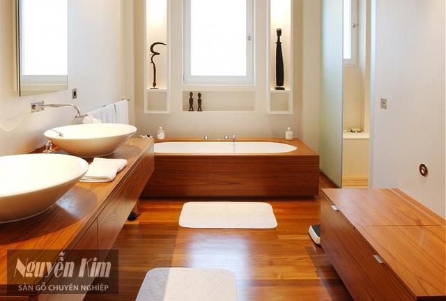 lựa chọn sàn gỗ công nghiệp cho nhà tắm