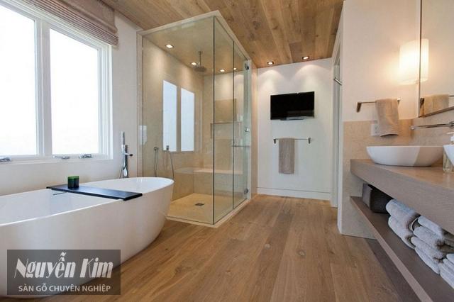các mẫu sàn gỗ nhà tắm đẹp