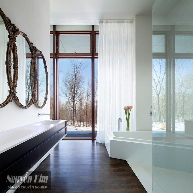 mẫu sàn gỗ nhà tắm đẹp