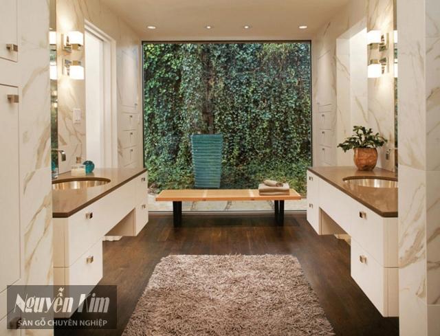 sàn gỗ nhà tắm