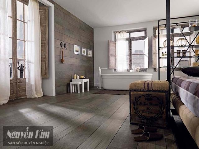 sàn gỗ nhà tắm sang trọng