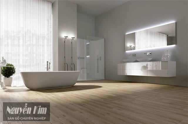 vì sao nên lát nhà tắm bằng sàn gỗ