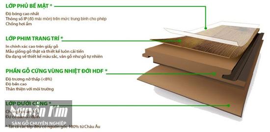 cấu tạo sàn gỗ công nghiệp urbans