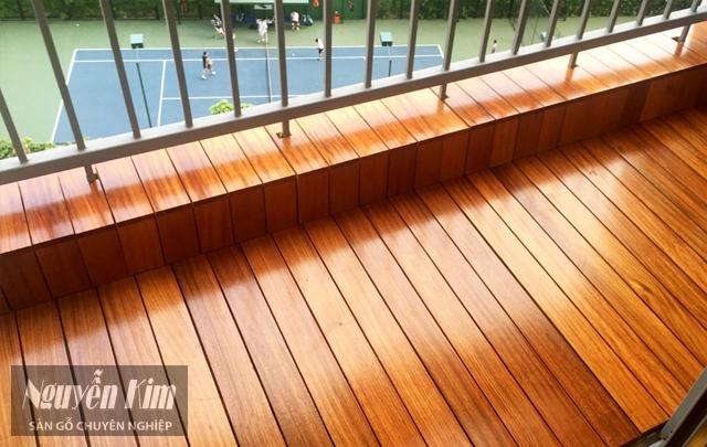 mẫu sàn gỗ ban công