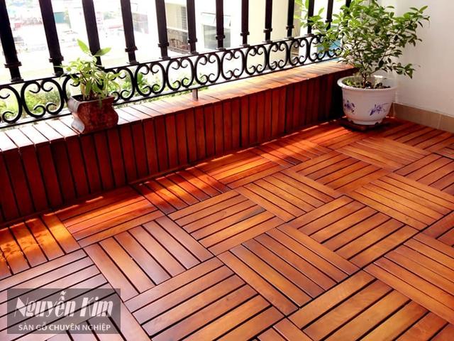 vỉ gỗ nhựa lót sàn vuông