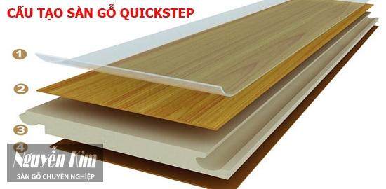 Cấu tạo sàn gỗ Quickstep