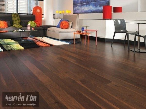 sàn gỗ tự nhiên màu socola