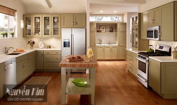 Có nên lắp sàn gỗ cho phòng bếp 1