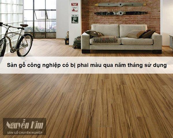 Sàn gỗ công nghiệp có bị phai màu qua năm tháng sử dụng 4